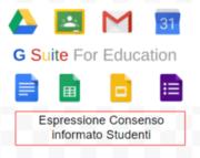 Espressione consenso informato G Suite Studenti